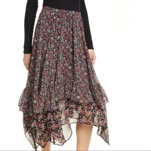 Free People Zuma Drippy Ruffle Skirt Size 12